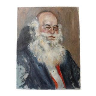 Walt Litt Portrait of a Man Vintage Oil Painting
