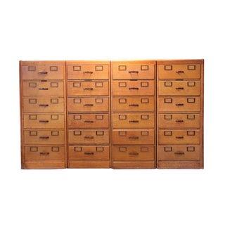 Vintage Library Bureau Makers Cabinets - Set of 4