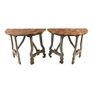 Italian Demilune Tables - A Pair