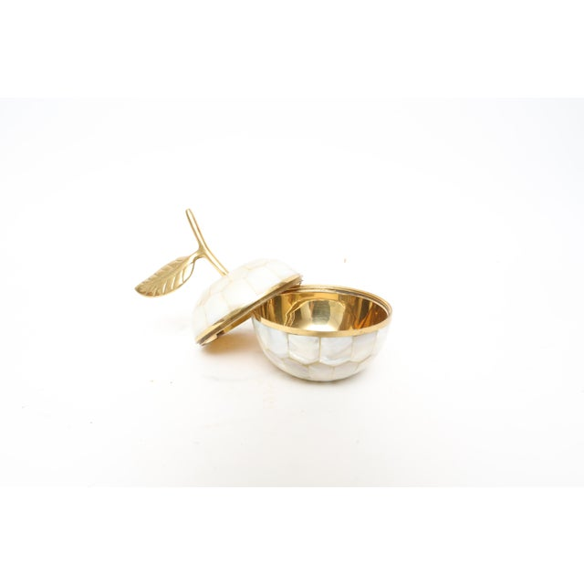 Vintage Mother of Pearl and Brass Trinket Box - Image 5 of 7