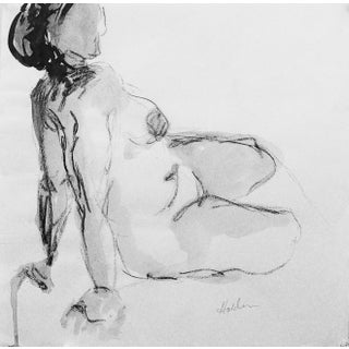 Model in Charcoal Drawing by Martha Holden