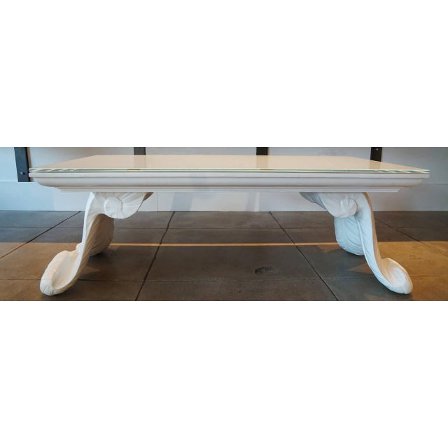 Grosfeld House Scroll Leg Coffee Table - Image 3 of 5
