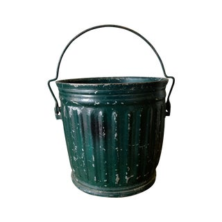 Green Vintage Industrail Pail