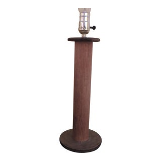 Vintage Wood Found Object Table Lamp