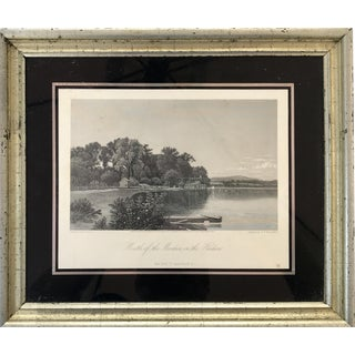 Original Antique Engraving Upper Hudson River New York 1870
