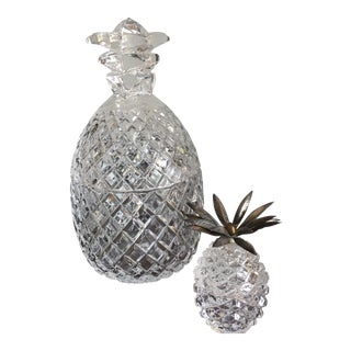 Crystal and Glass Pineapple Buckets