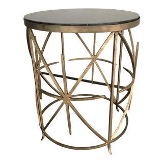 Horchow Contemporary Granite Top Round Side Table