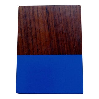 Blue Dipped Wood Pen/Pencil Holder