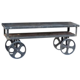 Industrial Trolley Cart Table