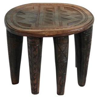 Nigerian Hand Carved Nupe Stool