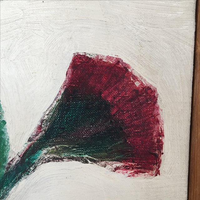 Mid-Century Flower Pot Painting - Image 5 of 10