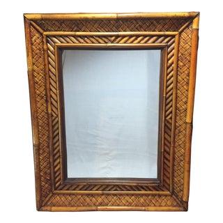 Vintage Bamboo & Rattan Wall Mirror