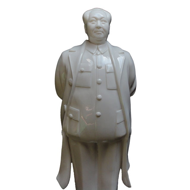 Image of White Porcelain Chairman Mao Standing Figure