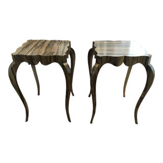 Keno Bros. The Tall Fine Point Side Tables - A Pair