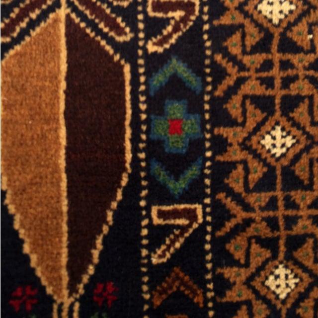 "Vintage Handmade Persian Baluchi Rug - 2'10""x4'7"" - Image 8 of 10"
