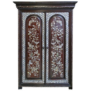 19th c. French Colonial Cabinet with Mother of Pearl