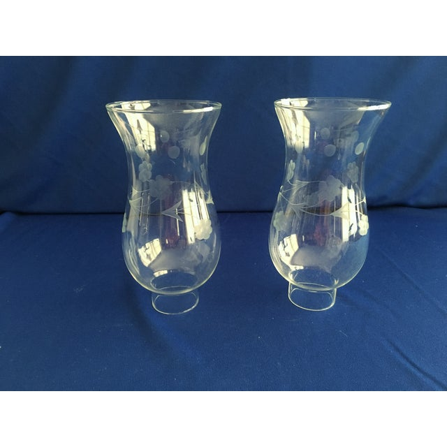 Image of Towle Sterling Silver Hurricane Lamps - A Pair