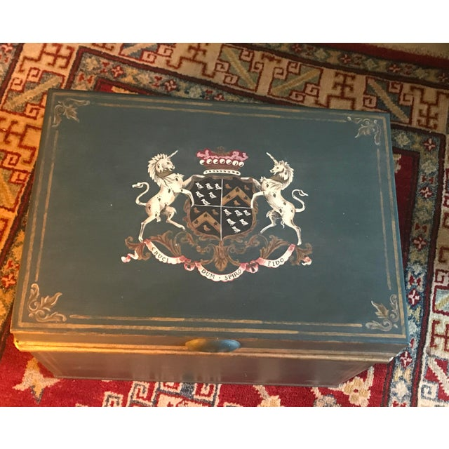 Image of Large English Metal Strong Box