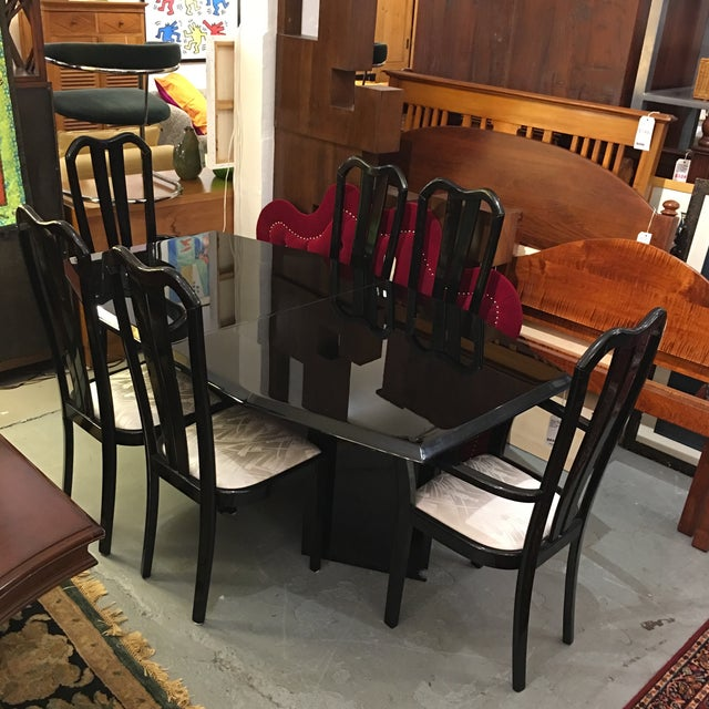 Black Lacquered Dining Set - Image 2 of 6