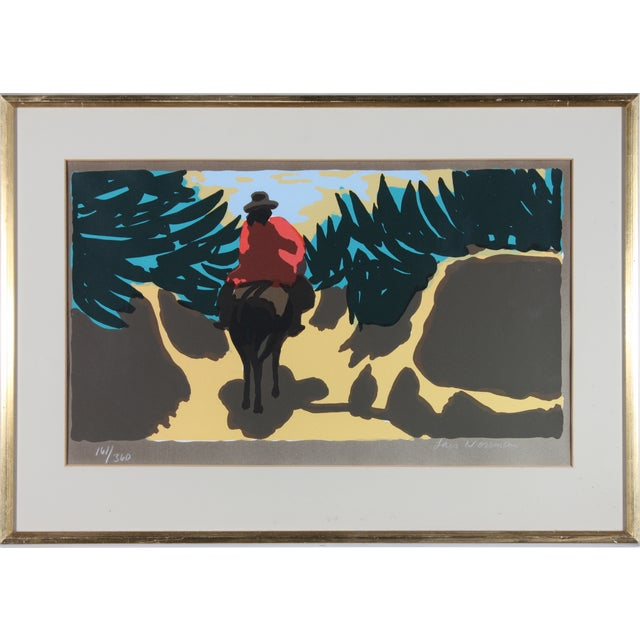 Image of Lars Norrman Riding Home Lithograph