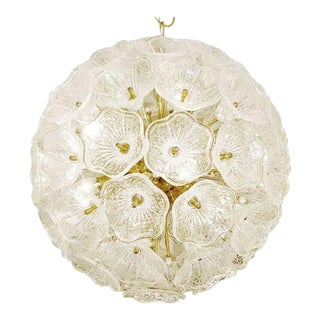 Sputnik Chandelier with Murano Glass Flowers, 1960s