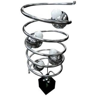 Chrome Spiral Eyeball Lamp
