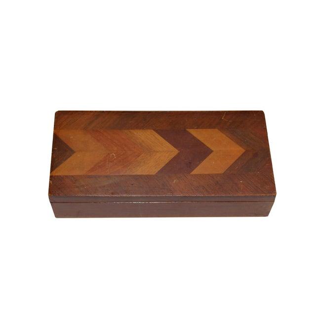 Herringbone Walnut Trinket Box - Image 2 of 4