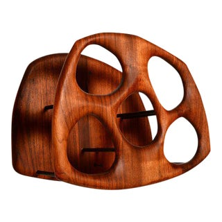 California Modern Walnut Wine Holder