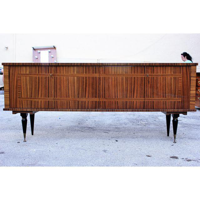 1940s Vintage French Art Deco Macassar Ebony Sideboard or Buffet/Bar - Image 3 of 10