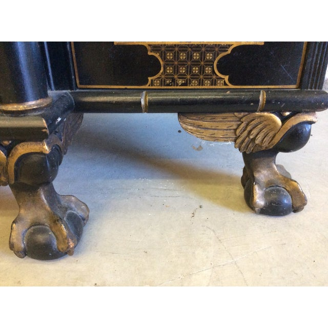 Image of Vintage Chinoiserie-Style Flip Top Bar or Buffet