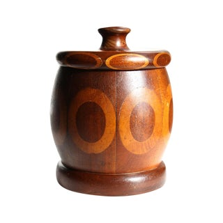 Turned Wood Oval Canister