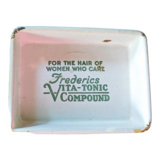 1930s Fredericks Vita-Tonic Compound Enameled Tray