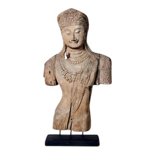 Southeast Asian Hand-Carved Statue
