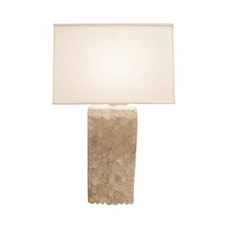 Cream Crystal Lamps with Rectangular Shades