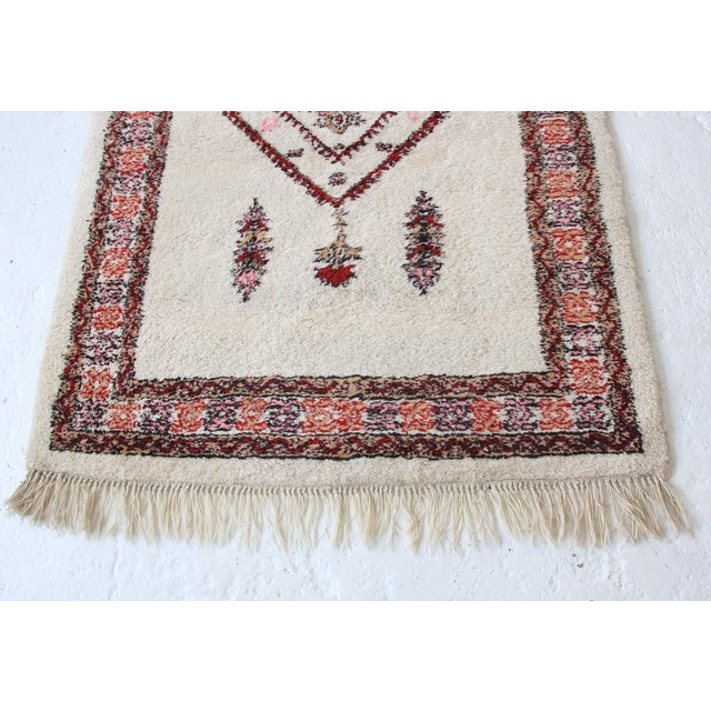 Vintage Pink & White Moroccan Rug - 3′11″ × 5′10″ - Image 3 of 7
