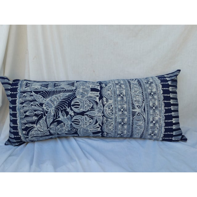 Hmong Indigo Batik Lumbar Pillow - Image 2 of 7