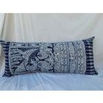 Image of Hmong Indigo Batik Lumbar Pillow