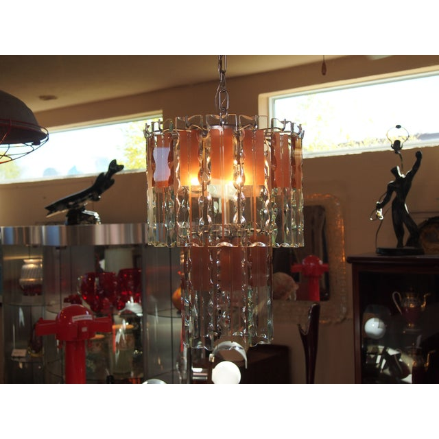 Italian Mid-Century Coral & Crystal Chandelier - Image 5 of 6