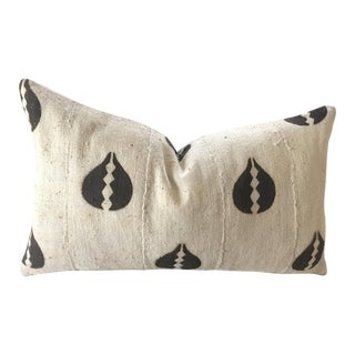Vintage Beige & Coffee Mudcloth Pillow Cover
