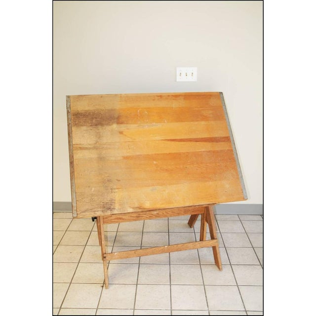 vintage wood drafting table chairish