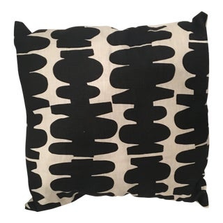 West Elm Black & White Geometric Print Pillow