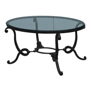 1960's French Wrought Iron Coffee Table