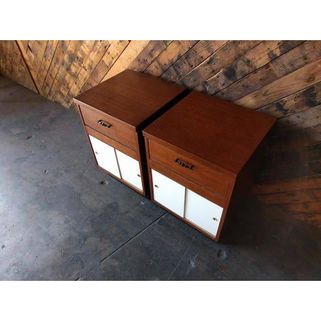 Image of 1950's Refinished Bedside Tables - A Pair