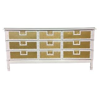 Mid-Century Faux Bamboo & Rattan Dresser
