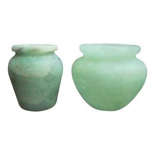 Alabaster Jars - A Pair