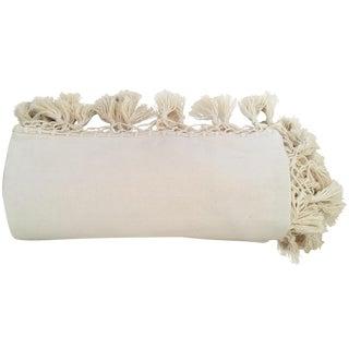 Oaxaca Oversize Cotton Cream Blanket