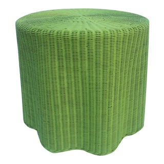 Rattan Woven Draped Form End Side Table