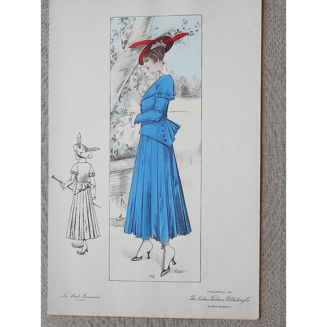 Image of French Fashion Print Folio Size C.1920