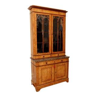 19th C. Ash Burl Bookcase
