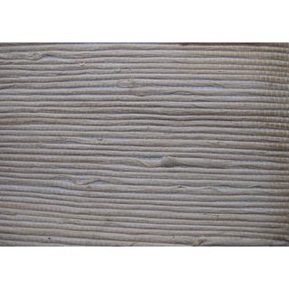 Schumacher White Grasscloth Wallpaper